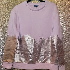 Topshop Blush Gold Sweater